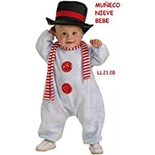 Disfraz de Muñeco de nive con Bufanda Bebe 1cb5bcf8297