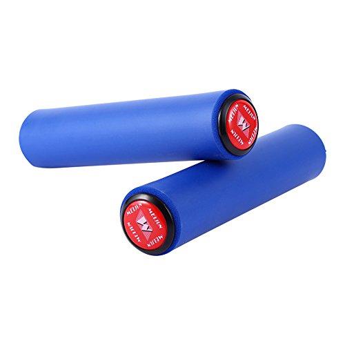 zjchao Impugnatura manopole in Silicone per MTB BMX Bicicletta Manubrio Mountain Bike Manubrio universali Ergonomiche (Blu)