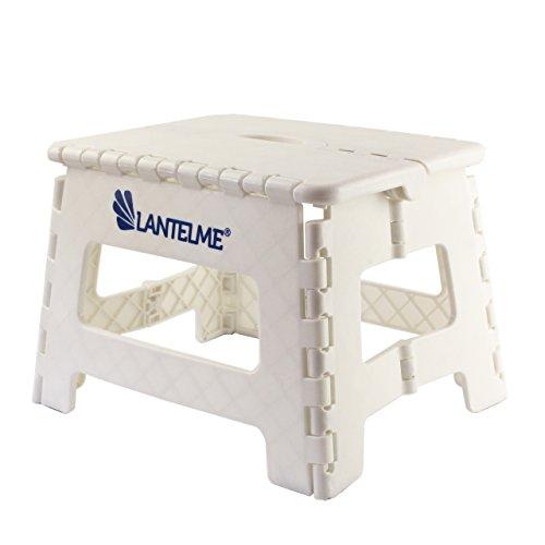 Lantelme 6776 Klapphocker in weiß - Universal Hocker aus Kunststoff - Klappbar als Kinderhocker - Tritthocker oder auch als Sitzhocker