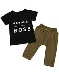 1a79b3824 Ropa Bebe Niña Verano Camuflaje Conjunto Bebe Niño Camiseta Manga Corta  Recién Nacido Bebé Niño Niña Tops Camisas y Pantalones Cortos…