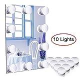 Luces Espejo, Abwei Espejo de Maquillaje LED Estilo Hollywood Luces de Espejo de Tocador 10 Bombillas de Iluminación y Conector USB para tocador iluminado Mesa de dormitorio de espejo