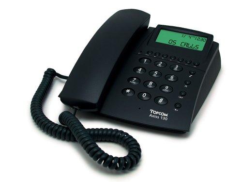 Topcom Axiss 130 Kompakttelefon LCD-Anzeige, Clip