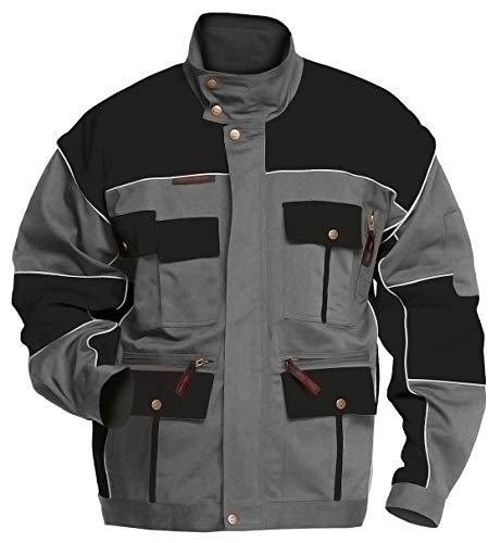 Logista Arbeitsjacke Herren Charlie Barato® 2in1 Jacke für Handwerker grau/schwarz (52)