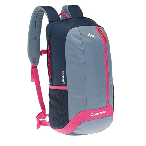 QUECHUA ARPENAZ 20 HIKING BAG GREY/PURPLE  available at amazon for Rs.1199