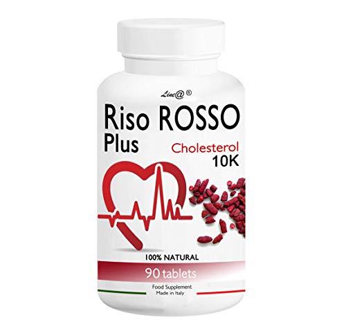 RISO ROSSO PLUS K10 Fermentato | 90 compresse (trattamento PER 3 MESI) si prende CURA del TUO CUORE, abbassando il TUO COLESTEROLO!