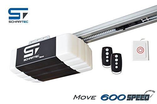 Schartec Move 600 Speed Garagentorantrieb Serie 2 Set inkl. 2 Handsender und Schiene - elektrischer Torantrieb - Garagentoröffner für Schwingtor und Sektionaltor Garagentor Antrieb - Garagentor-sicherheit