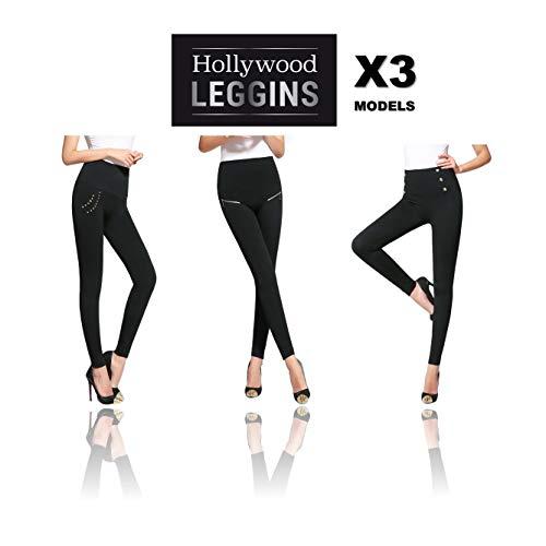 Hollywood leggings - i nuovi leggings snellenti, ti appariranno più sottili istantaneamente, 3 modelli al prezzo di 1! taglia l