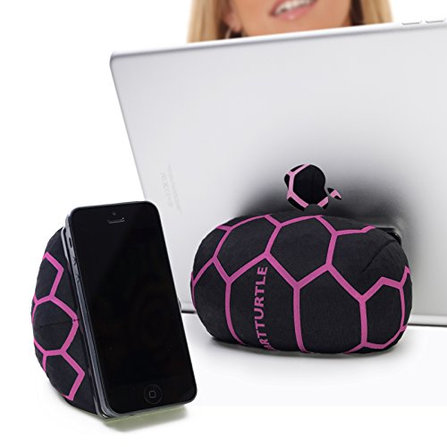 SmartTurtle multifunktionale iPad Halterung, Made in Austria, Sitzsack für Smartphone, Handy, eReader, Tablet, iPhone, iPad Air 1/2/3/4, Samsung Note Galaxy für Tisch, Bett, Sofa, Auto uvam - pink