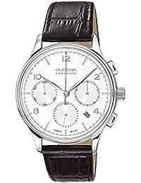 Dugena Herren-Armbanduhr Minor Chronograph - Traditional Classic Analog Quarz Leder 7000240