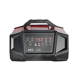 AEG Automotive 158009 Werkstatt-Ladegerät WM Ampere für 6 und 12 Volt Batterien, mit Autostart-Funktion, CE, IP 20, 15 A