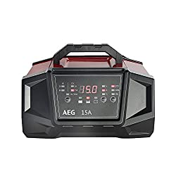 AEG 158009 Werkstatt-Ladegerät WM Ampere für 6 und 12 Volt Batterien, mit Autostart-Funktion, CE, IP 20, 15 A