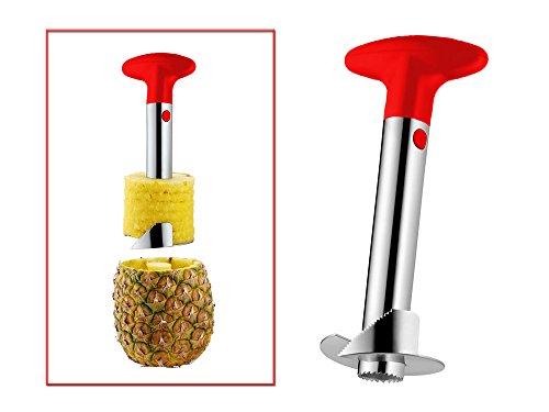 Vetrineinrete® Sbuccia ananas taglia e affetta in acciaio utensile per sbucciare tagliare e affettare levatorsolo accessorio da cucina F23