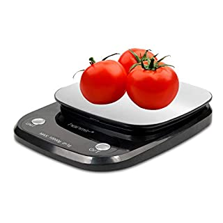 Digital Kitchen Scale, Electronic Kitchen Scale with LCD Display, 10Kg/1g, Stainless Steel ,Hanmir High Precision Kitchen Scale, Black (Batteries Included)