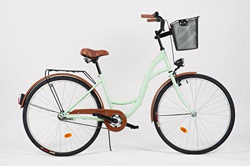Milord Schwarz-Braun Hollandrad Damenfahrrad 28 Zoll Komfort Fahrrad mit Korb 3-Gang