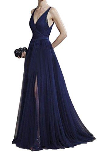 Promgirl House - Robe - Trapèze - Femme bleu foncé