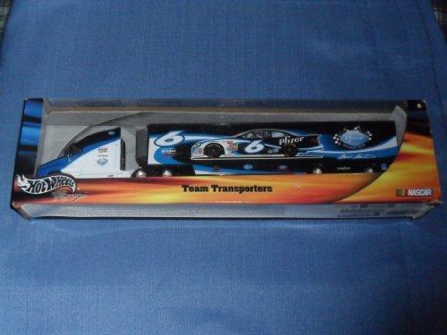 2002-nascar-hot-wheels-mark-martin-6-pfizer-roush-racing-team-hauler-diecast-by-nascar