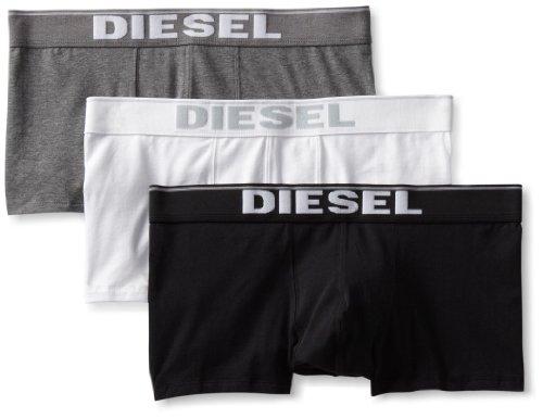 Diesel Herren Pack mit 3 Boxershorts Gr. M, Grau/Weiß/Schwarz