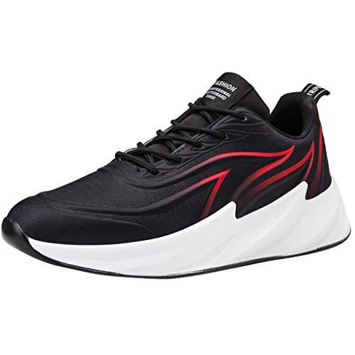 FELEK Herren Sommer Shock Absord Sneakers Wild Woven Running Schuhe Atmungsaktive Sneakers