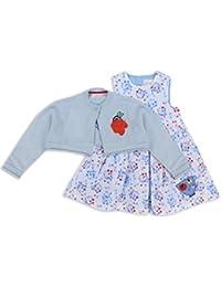 The Essential One - Baby Kinder Mädchen - Kleider und Strickjacke Set - Blau - EOT286