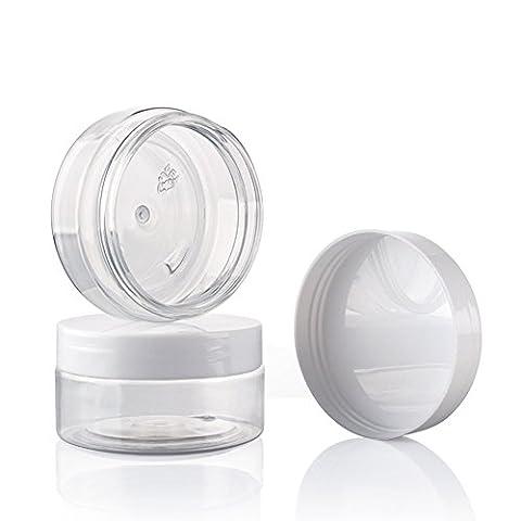Nailfun hugestore 10ml 10grammes de vide Transparent Nail Art Petits Pots avec couvercle empilable döschen vide döschen, Plastique, 10 Stücks