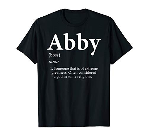 bd451819 Abby T-Shirt - Cute Definition Personalized Name Gift Shirt