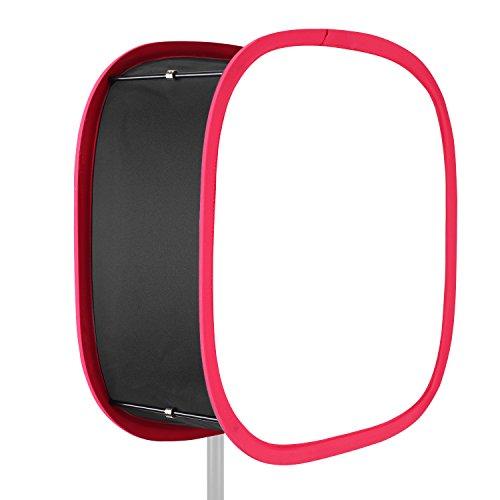 Neewer Zusammenklappbarer Softbox Diffusor mit rotem Rand für 480LED Panel mit Riemenbefestigung und Tragetasche für Portrait Videoaufnahmen Foto Studio Portrait Panel
