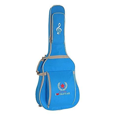 Andoer® Étui pour guitare classique acoustique folk 600D résistant à l'eau Tissu Oxford Camouflage Bleu Double Coutures rembourrées Housse étui de transport pour 104,1cm Guitare acoustique classique Guitare Folk