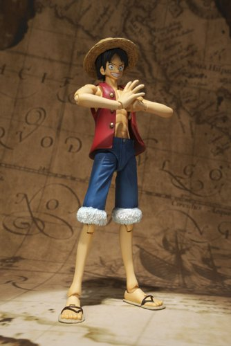 One Piece Bandai S.H. Figuarts 6 Inch Super Articulated Figure Monkey D. Luffy (japan import) 6