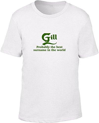 Gill probabilmente il migliore cognome nel mondo bambini T Shirt White
