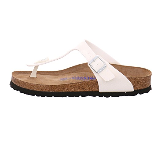 Birkenstock Gizeh Leder Softfootbed, Tongs mixte adulte Magic Galaxy White