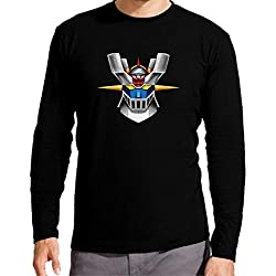 The Fan Tee Camiseta Manga Larga de NIÑOS Mazinger Z Anime Manga Retro 5-6 Años