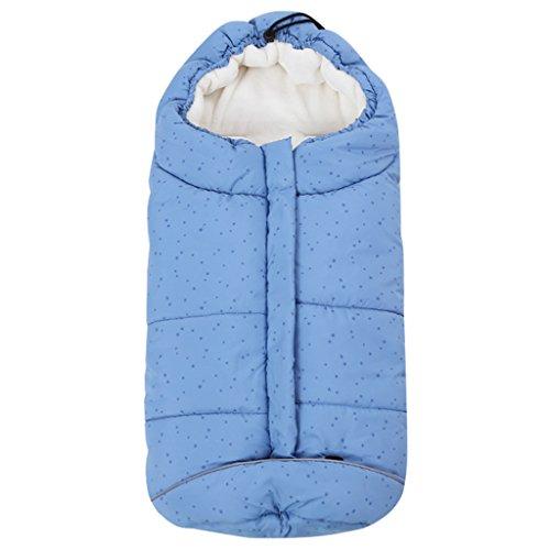 Sacchi nanna per bambino 3 tog, passeggino sacco a pelo neonato coperta universale avvolgente 0-6 mesi, stella blu
