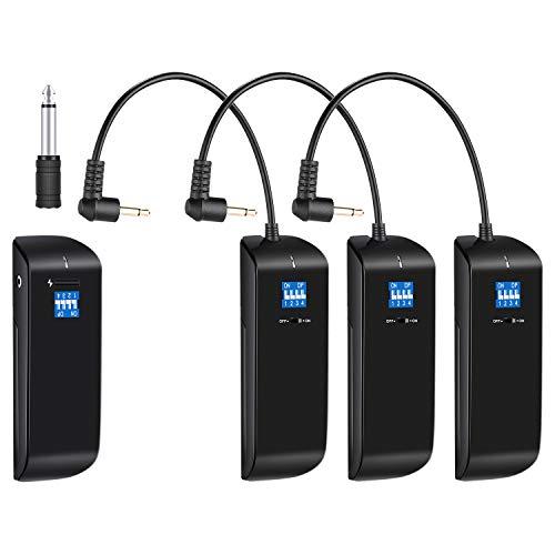 Neewer 16 Kanal 2.4G Funk Studio Blitzauslöser Set: (3) Empfänger und (1) Sender für DSLR Kamera und S-300N S-400N N-250W N-300W usw. Strobe Monolights mit Standard-Sync-Anschluss (RC100) -