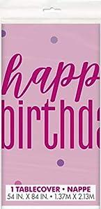 Unique Party 83603 - Mantel, color rosa y plateado