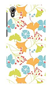 Koveru Designer Printed Protective Snap-On Durable Plastic Back Shell Case Cover for HTC Desire 828 - Lily Pattern