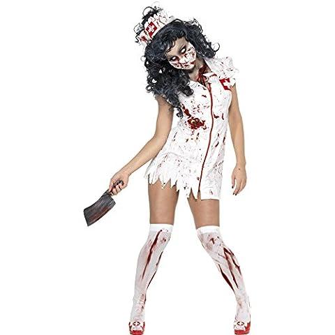 Smiffy's - Disfraz de zombi para mujer, talla S (UK 8 - 10) (SM34132-S)