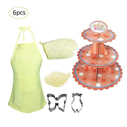 Kinder Kochen und Backen Set Schürze für Kleinkind Dress Up Chefkostüm Karriere Rollenspiel