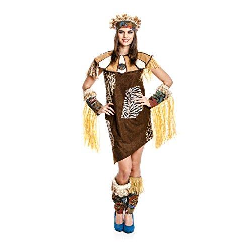 nerin Kostüm Afrika Damen Afrikanerinkostüm Größe 40/42 (Safari Frau Kostüm)