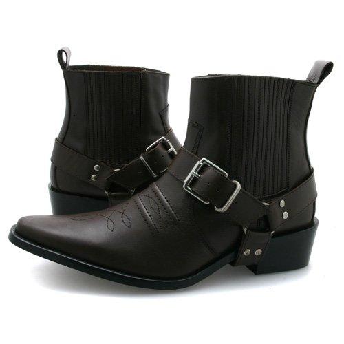 Braun Leder Herren Cowboy-Stiefel Größe EU 44