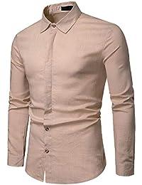 58d7622212 QUICKLYLY Camisa Cuadros Hombre Manga Larga Franela Leñador Capucha Camisas  Vestir Fiesta Slim Fit