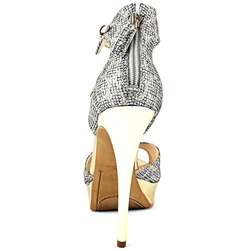 Guess Karlee2 Toile Talons Compensés Natural Multi
