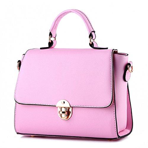 Sacchetto del messaggero di cuoio della borsa della borsa della borsa di cuoio delle donne Rosa