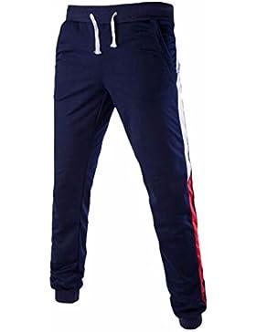 QIYUN.Z Los Hombres De Los Pantalones Ocasionales De Los Deportes Del Basculador Del Sudor