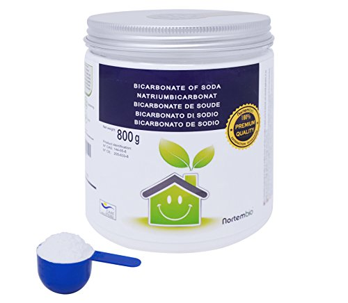 NortemBio Bicarbonato de Sodio 800g, Insumo Ecológico de Origen Natural, Calidad Premium, Producto CE.