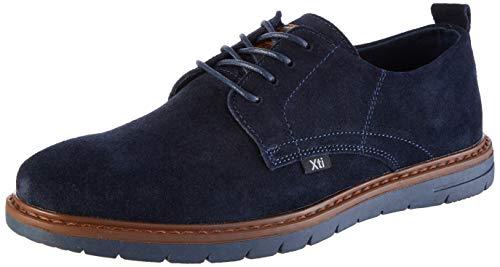 XTI 49177, Zapatos Cordones Oxford Hombre, Azul Navy