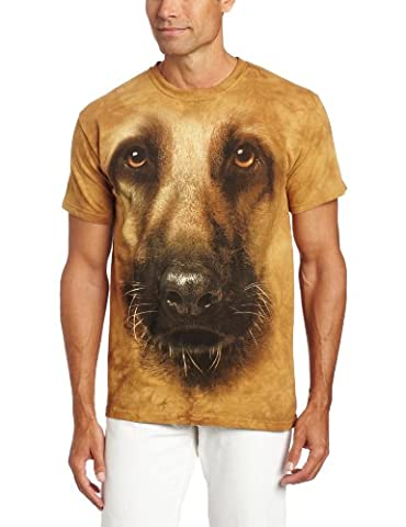 The Mountain Mens German Shepherd Face T-shirt - Large Brown
