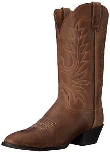 Ariat Women\'s Heritage Western R Toe Western Cowboy Boot, Distressed Brown, 8.5 B US