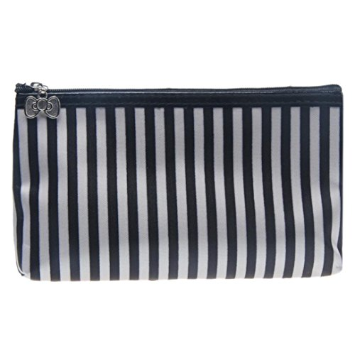 Susenstone 1PC Stripe Maquillage Portable Storage Bag