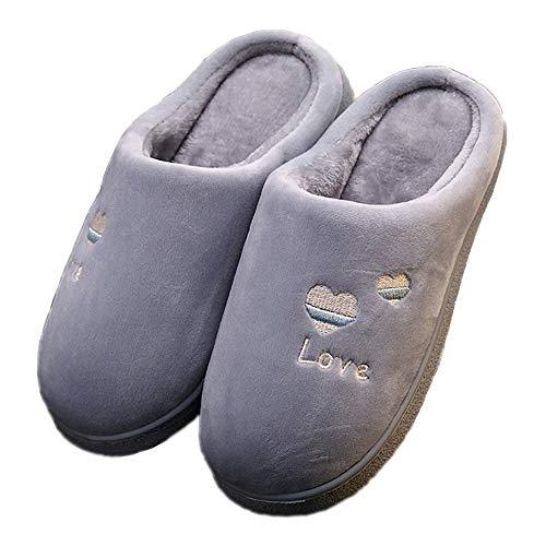 Zapatillas de casa Calientes de Espuma viscoelástica para Hombre, para Uso en Interiores, Exteriores, Antideslizantes
