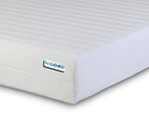 4FT6 Double Memory Foam and Reflex Mattress with Border Miqro Quilted Exclusive Cover - inexpensive UK bed store.